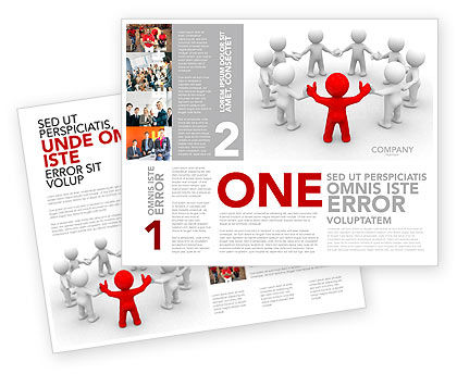 Union Brochure Template, 05459, Consulting — PoweredTemplate.com