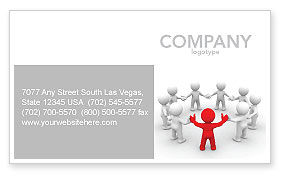 Union Business Card Template, 05459, Consulting — PoweredTemplate.com