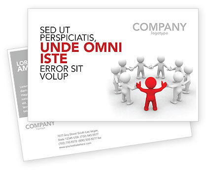 Consulting: Union Postcard Template #05459