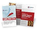 Business Concepts: Krise überwunden Broschüren Vorlage #05460