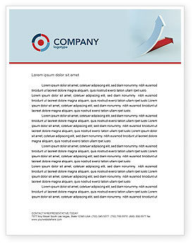 Business Concepts: Crisis Overcome Letterhead Template #05460