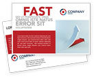 Business Concepts: Crisis Overcome Postcard Template #05460