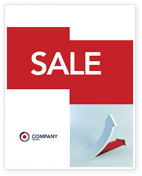 Crisis Overcome Sale Poster Template, 05460, Business Concepts — PoweredTemplate.com