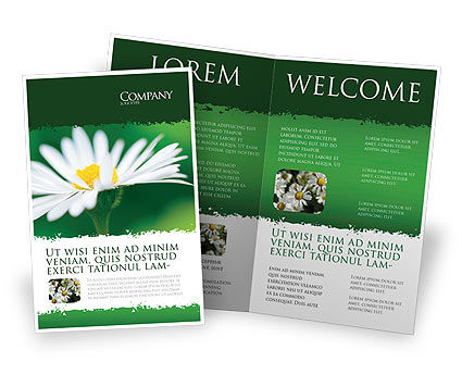 Nature & Environment: Daisy Chain Brochure Template #05462