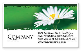 Daisy Chain Business Card Template, 05462, Nature & Environment — PoweredTemplate.com
