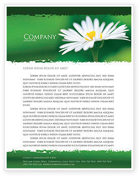 Nature & Environment: Daisy Chain Letterhead Template #05462