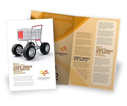 Cart Brochure Template, 05463, Careers/Industry — PoweredTemplate.com