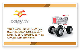 Careers/Industry: Cart Business Card Template #05463
