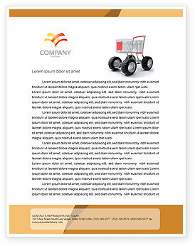 Cart Letterhead Template, 05463, Careers/Industry — PoweredTemplate.com