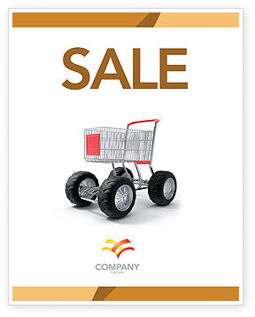 Cart Sale Poster Template, 05463, Careers/Industry — PoweredTemplate.com