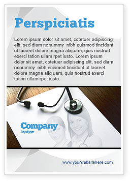 Portrait Of Medical Staff Ad Template, 05468, Medical — PoweredTemplate.com