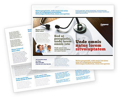 Medical: Portrait Of Medical Staff Brochure Template #05468