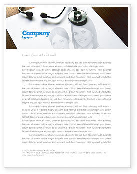 Medical: Portrait Of Medical Staff Letterhead Template #05468