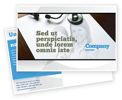 Medical: Portrait Of Medical Staff Postcard Template #05468
