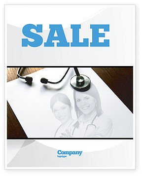 Medical: Portrait Of Medical Staff Sale Poster Template #05468