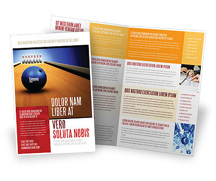 Hitting The Goal Brochure Template, 05469, Sports — PoweredTemplate.com