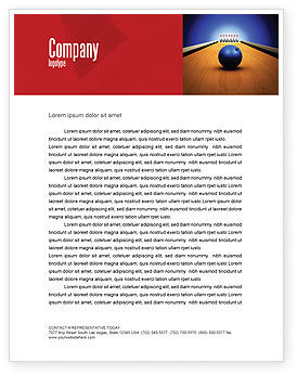 Hitting The Goal Letterhead Template, 05469, Sports — PoweredTemplate.com