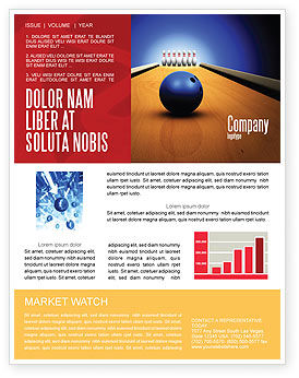 Sports: Hitting The Goal Newsletter Template #05469