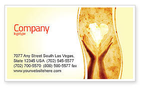Sharing Love Business Card Template, 05472, Religious/Spiritual — PoweredTemplate.com