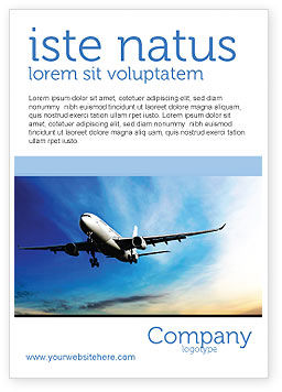 Cars/Transportation: Modern Plane Ad Template #05474
