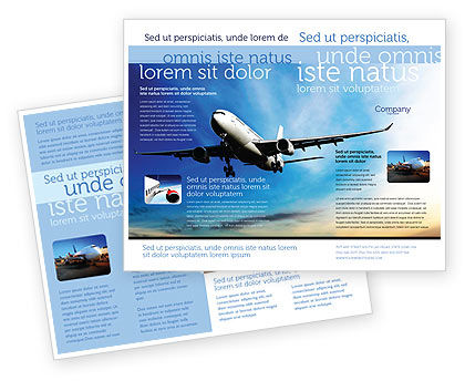 Modern Plane Brochure Template, 05474, Cars/Transportation — PoweredTemplate.com