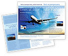Cars/Transportation: Modern Plane Brochure Template #05474