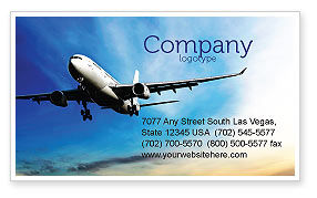 Modern Plane Business Card Template