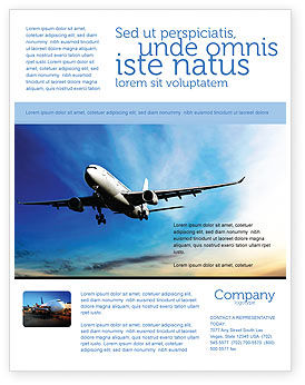 Modern Plane Flyer Template, 05474, Cars/Transportation — PoweredTemplate.com