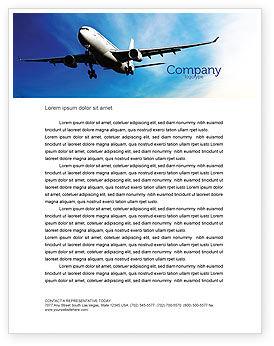 Cars/Transportation: Modernes flugzeug Briefkopf Vorlage #05474