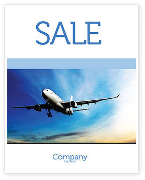 Cars/Transportation: Modern Plane Sale Poster Template #05474
