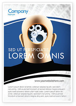 Mechanistical Mental Work Ad Template, 05484, Consulting — PoweredTemplate.com