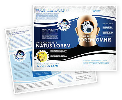 Consulting: Mechanistical Mental Work Brochure Template #05484