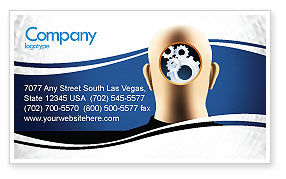 Consulting: Mechanistical Mental Work Business Card Template #05484