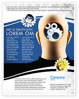 Mechanistical Mental Work Flyer Template, 05484, Consulting — PoweredTemplate.com