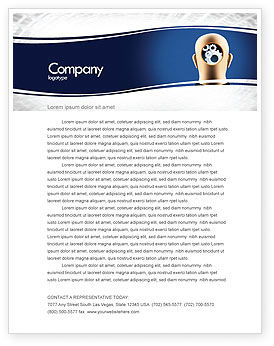 Mechanistical Mental Work Letterhead Template, 05484, Consulting — PoweredTemplate.com
