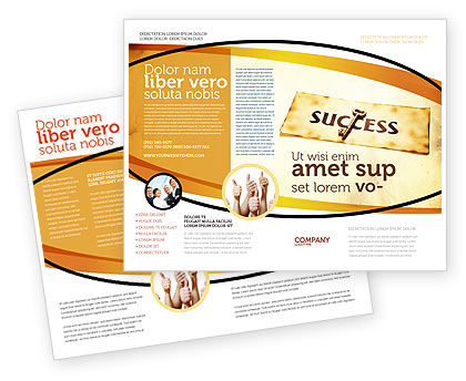Key to Success Brochure Template, 05487, Business Concepts — PoweredTemplate.com