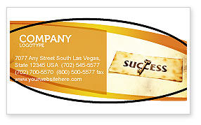 Business Concepts: Key to Success Business Card Template #05487