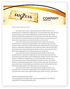 Business Concepts: Key to Success Letterhead Template #05487
