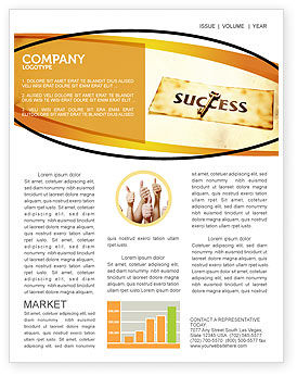 Business Concepts: Key to Success Newsletter Template #05487