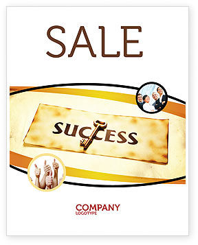 Key to Success Sale Poster Template, 05487, Business Concepts — PoweredTemplate.com
