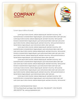 Essential Reading Letterhead Template, 05494, Education & Training — PoweredTemplate.com