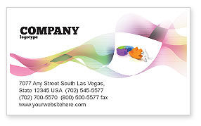 Matching Piece Business Card Template, 05496, Consulting — PoweredTemplate.com