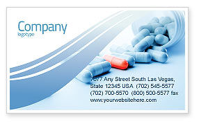 Drug Therapy Business Card Template, 05497, Medical — PoweredTemplate.com