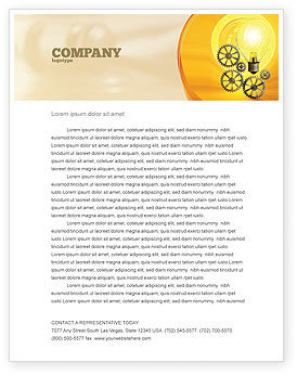 Working Idea Letterhead Template, 05498, Consulting — PoweredTemplate.com