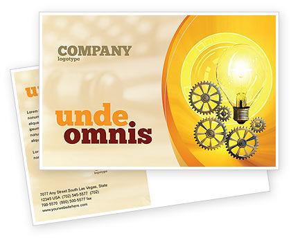 Consulting: Working Idea Postcard Template #05498