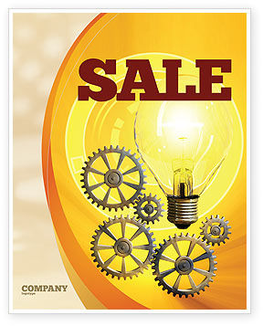 Working Idea Sale Poster Template, 05498, Consulting — PoweredTemplate.com