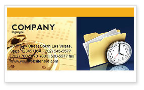 Business: Modèle de Carte de visite de document workflow #05499