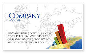 Business Concepts: Economic Indexes Business Card Template #05500