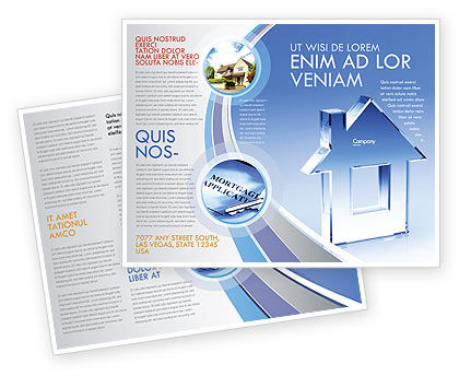 Crystal Home Brochure Template, 05505, Construction — PoweredTemplate.com
