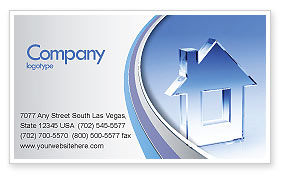 Construction: Crystal Home Business Card Template #05505